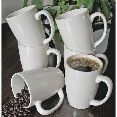 White 6pcs High Quality Tea or Coffee Ceramic Cups