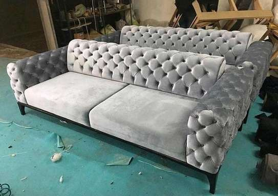 New 3 seater Chesterfield sofa image 1