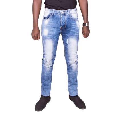 Blue Rugged Jeans