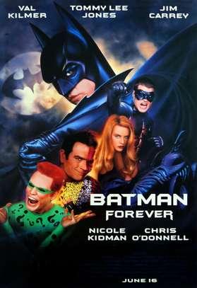 For Sale Vintage 1995 / Collectors Poster  Batman Forever Original Movie Poster Properly Framed Print Movie Poster Art image 1