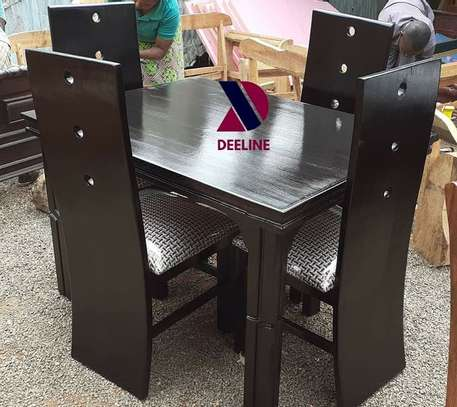 Black 4 Seater Dining Table. image 12