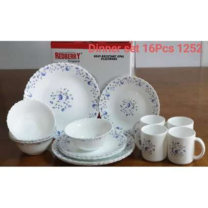 Generic 16 Pcs Dinner Set(white With blue Floral) image 1