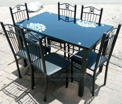 Flowerly dining table with quality finish image 1
