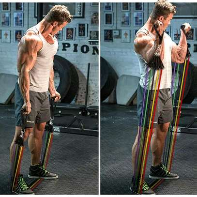 10 in 1 fitness resistance bands image 1