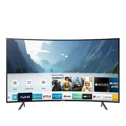 Samsung curved 49 inch TV smart digital 4K image 1