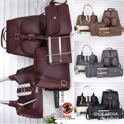 Amazing 5 in 1 Pure leather Handbags image 1