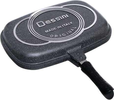 *Quality Original Dessine granite marble /non-stick double grill pan* image 3