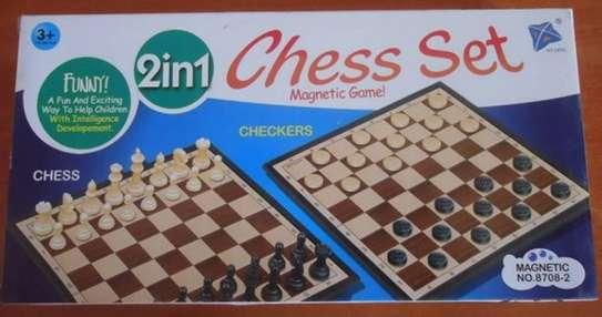 2in1 Chess & Checkers/Draught Family Kids Board Games