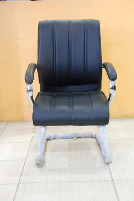 Spencer Cantilever Mid Back Leather Chairs