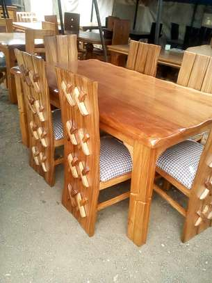 Rectangular dining table six seater