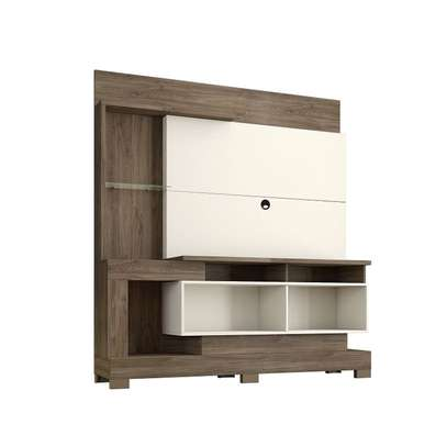 """TV Wall Unit Rack ( Notavel Madri 57053 ) - TV space up to 50 """" - Cinnamon / Sand image 4"""