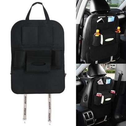 Multi-Pocket Car Back Seat Storage Organizer Hang Black (blaCK image 4