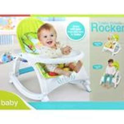 2 IN 1 Portable Rocker Dining Table Newborn to Toddler WITH MUSIC & VIBRATIONS image 1