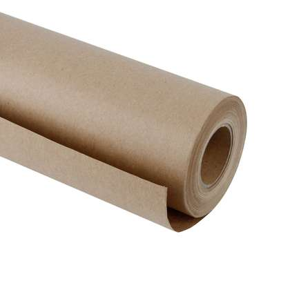 Kraft Multipurpose Brown Paper Roll Sheets, 90 x 100cm image 1
