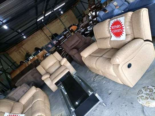 Repair, repainting and reupholstery of all imported recliners and other leather sofas image 6