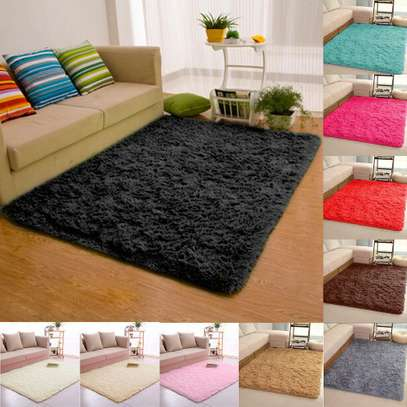 5 BY 8 ANTI SKID FLUFFY CARPET image 1