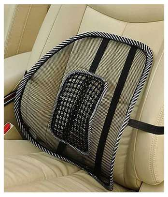 Back Rest - Mesh Support for Car Seat or Office Chair - Black image 1