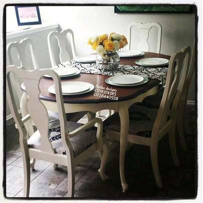 Six seater dining set/Mahogany Dining tables image 1