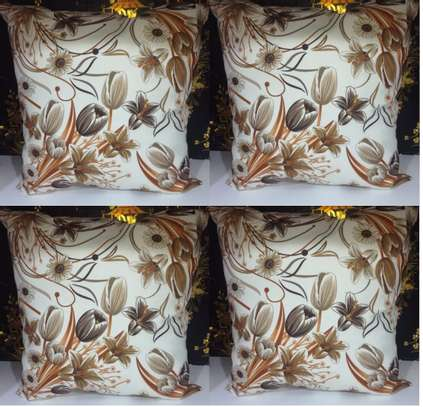brown flowers throw pillows image 1