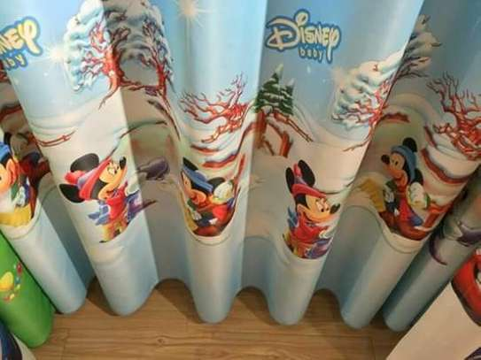 Kids cartoon themed curtains image 7