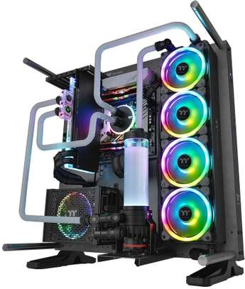 Thermaltake Riing Trio 12 RGB TT Premium Edition 120mm Software Enabled 30 Addressable LED 9 Blades Case/Radiator Fan - 3 Pack image 4