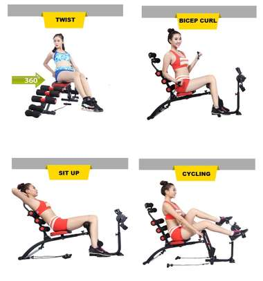 Multi Purpose Six Pack Care ABS Fitness Machine- Cycle image 2