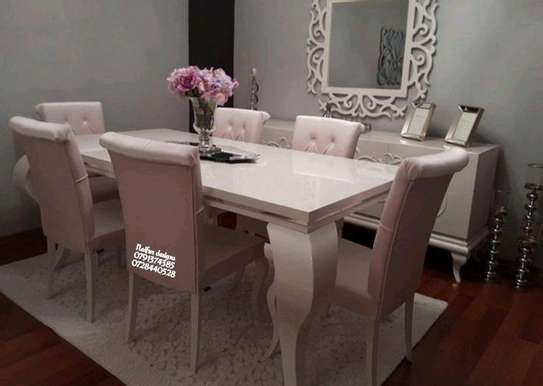 Six seater dining set/modern diningroom designs image 1