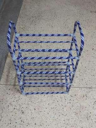 Metallic Portable shoe rack image 1