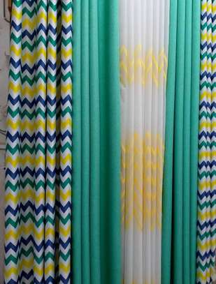 curtains green prints image 1
