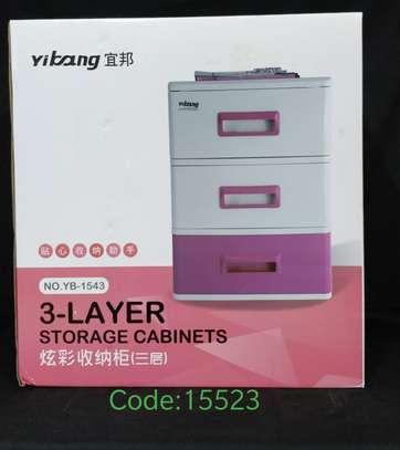 Plastic multipurpose 3 layers drawers