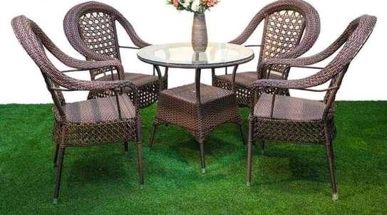 4 piece rattan balcony chairs image 5