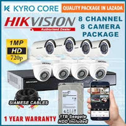 8 CCTV CAMERA COMPLETE PACKAGE image 1