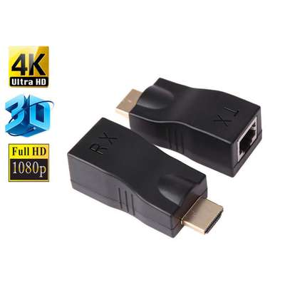 HDMI Extender Over Cat5e/6 Network Ethernet Adapter (4K / 1080P) - Up image 1