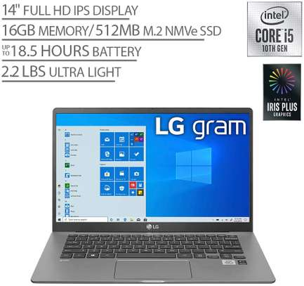 "LG Gram Laptop - 14"" Full HD IPS Display, Intel 10th Gen Core i7-1065G7 CPU, 16GB RAM, 512GB M.2 MVMe SSD, Thunderbolt 3, 18.5 Hour Battery Life - 14Z90N (2020) image 1"