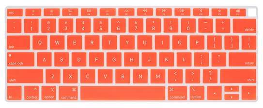 2018 2019 MacBook Air Keyboard Cover Skin for Newest MacBook Air 13-Inch with Touch ID Version Model A1932 Silicone Water-Proof Protector US Layout. image 2