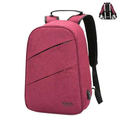 Bokun Antitheft Bags With USB Charging Port - Red image 1