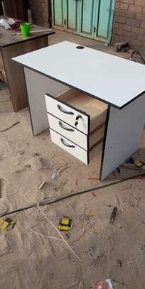 Wooden white office desk image 1