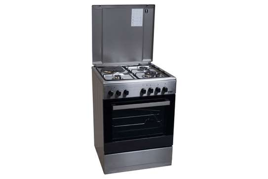 Von Hotpoint HPC7312NEI 3 Gas + 1 Electric Cooker - Inox image 1