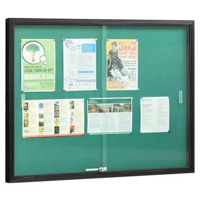Buy Glass Sliding Noticeboard image 2