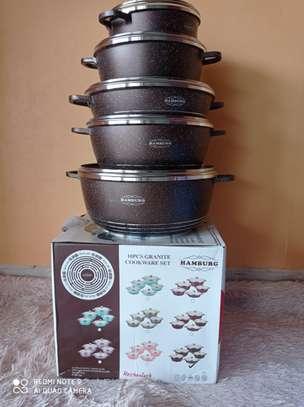 *10 pcs humburg  granite cookware set* 20cm casserole 24cm casserole 28 cm casserole 32 cm casserole 28cm shallow casserole * image 1