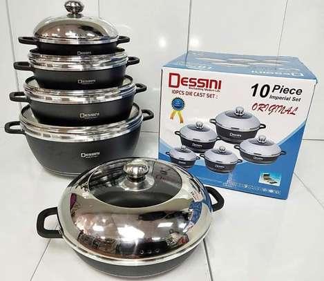 Dessini 10 Pcs Non-Stick Cooking/Serving Pots image 1