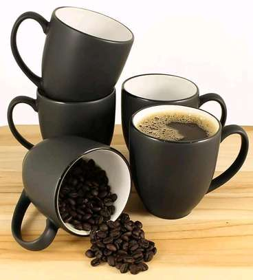 Ceramic Black Multi Tea/ Coffee Mugs Set image 1