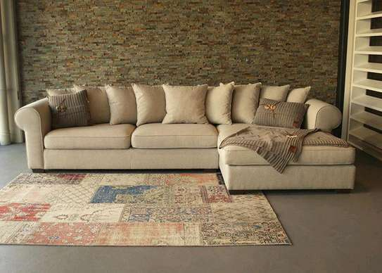 Modern grey L shaped sofas for sale in Nairobi Kenya/Five seater sofa for sale in Nairobi Kenya image 1