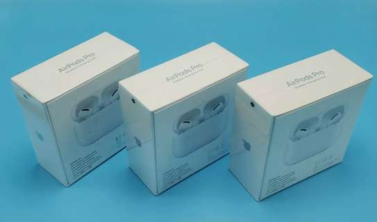 Apple Airpods Pro With Wireless Charging Case - White (New) image 1