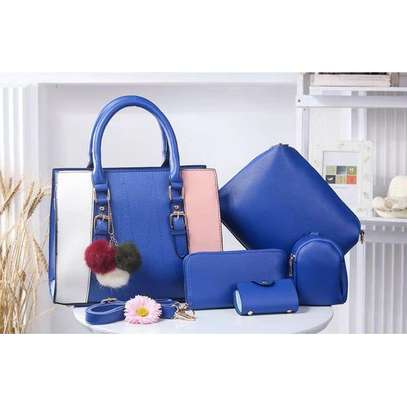 classy 5 in 1 handbags- assorted colours image 1