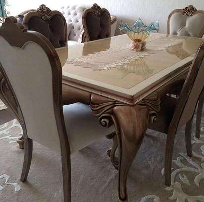 Six seater curved Dining tables for sale in Nairobi Kenya/Egyptian curved dining tables for sale in Nairobi Kenya image 1