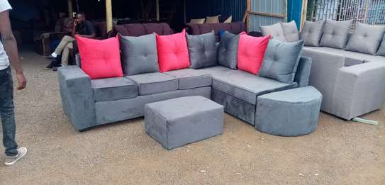 L shape 6 seater pure fibre