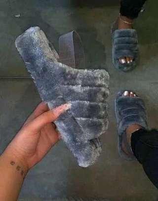 Fluffy ladies sandals image 1