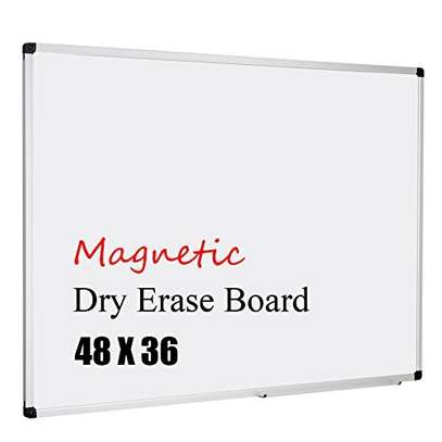 Magnetic Steel Dry Erase Wall Mounted Whiteboard. 4x2fts