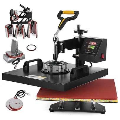 "Digital Multifunctional Heat Press Machine 12"" x 10"" Heat Transfer Machine for T Shirts Hat Mug Cap Plate (5in1) image 2"